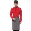 men redhorse print  waiter uniform shirts and apron