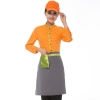 women orangehorse print  waiter uniform shirts and apron