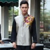 Blackish Greenspecial class Chinese Restaurant waiter waitress uniform coat
