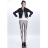 glossy greysexy low waist PU leather young girls legging pant