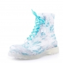 lovely new Europe design crystal bird print princess rain boot