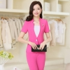 rose pant suitssummer collarless thin formal work pant suits for women