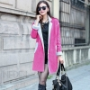 micro suede bounding with lamb fur women's windbreak trench coat