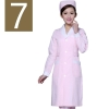 women pink ( white collar)winter high quality long sleeve front opening nurse doctor coat uniform