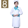 women white( green collar)winter high quality long sleeve front opening nurse doctor coat uniform