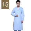 men light bluewinter high quality long sleeve front opening nurse doctor coat uniform