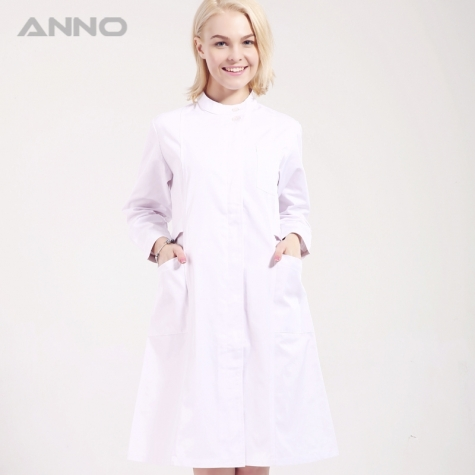 ANNO brand long sleeve female medical coat nurse uniforms