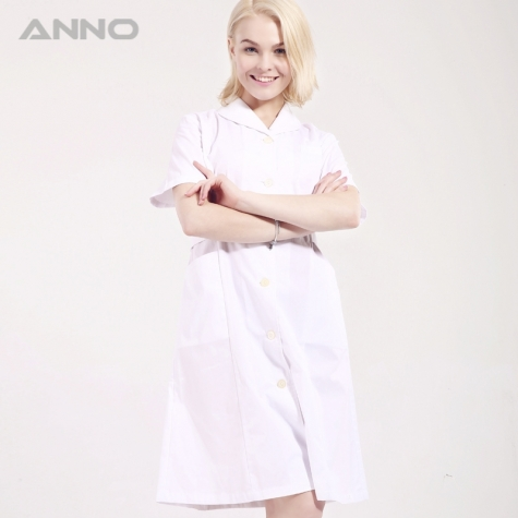 shawl collar short sleeve women nurse coat uniforms