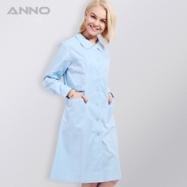 long sleeve Peter pan collar  medical care center nursing uniforms coat