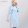 Peter pan collar long sleeve medical car hub women nurse coat