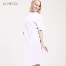 short sleeve stand-up collar medical care nursing uniforms coat