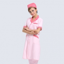 summer pink beatuty care medical nurse coat