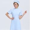 short sleeve light bluenew arrival hospital medical nurse coat short sleeve