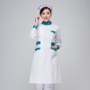 long sleeve green collarnew arrival hospital medical nurse coat short sleeve
