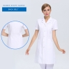 women short sleeve white (back belt)new arrival hospital notch lapel doctor coat nurse uniforms