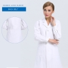 women long sleeve white (back belt)new arrival hospital notch lapel doctor coat nurse uniforms