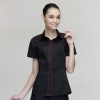 women short sleeve blackfashion waiter short / long sleeve shirt restaurant uniforms