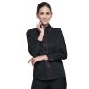 women long sleeve blackfashion waiter short / long sleeve shirt restaurant uniforms