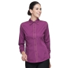 women long sleeve purplefashion waiter short / long sleeve shirt restaurant uniforms