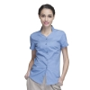 women light bluecollarless clerk party waiter shirt waitress uniform