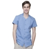 men light bluecollarless clerk party waiter shirt waitress uniform