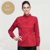 women redlong sleeve solid color waiter shirt restaurant uniform