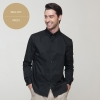 men blacklong sleeve solid color waiter shirt restaurant uniform