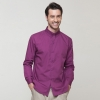 men purplelong sleeve solid color waiter shirt restaurant uniform