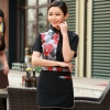 women greypersonality paint flower print waiter waitress uniform