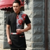 men greypersonality paint flower print waiter waitress uniform