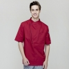 short sleeve winefashion right opening unisex chef pullover coat for restaurant kitchen