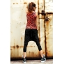 punk fashion wild leopard head print young girls harem pant + tshirt