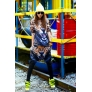 tigerish animal print casual loose girls women harem pant + tshirt