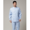 light blue coat + panthigh quality Europe handsome men doctor nurse coat