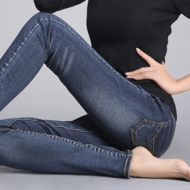 wide waist healthy pregnant women pants maternity jeans