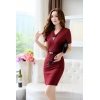 wine color dressfashion grace formal stripes office work  dress
