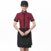 women short sleeve wineClassic Korea fashion high quality hotel workplace men women shirt uniform