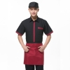 men short sleeve blackClassic Korea fashion high quality hotel workplace men women shirt uniform