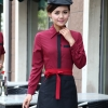 women long sleeve wineClassic Korea fashion high quality hotel workplace men women shirt uniform