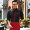 men long sleeve blackClassic Korea fashion high quality hotel workplace men women shirt uniform