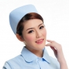 light blue2015 fashion high quality nurse hat cap,multi designs