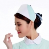 light green + white2015 fashion high quality nurse hat cap,multi designs