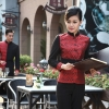 women winewedding formal style service staff blouse blazer uniform for waiter