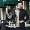 men sliverwedding formal style service staff blouse blazer uniform for waiter