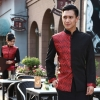 men winewedding formal style service staff blouse blazer uniform for waiter
