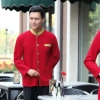 men red blazergolden hem high quality wineshop hotel uniform workwear