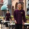 men purple blazergolden hem high quality wineshop hotel uniform workwear