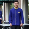 men sapphire blazergolden hem high quality wineshop hotel uniform workwear