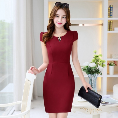 fashion Korea formal office lay work dress