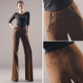 Korea design invisible waist wool fabric young women flare pant trousers